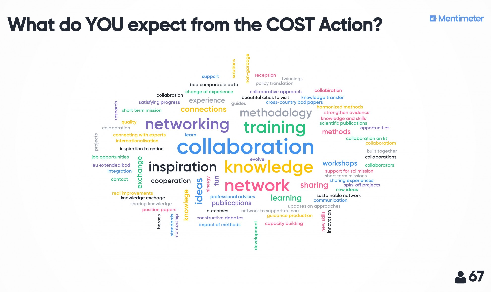 1 what do you expect from the cost action